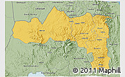 Savanna Style 3D Map of Tigray