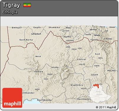 Shaded Relief 3D Map of Tigray
