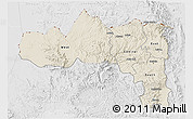 Shaded Relief 3D Map of Tigray, lighten, desaturated