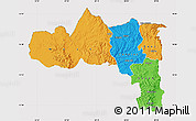 Political Map of Tigray, cropped outside