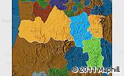 Political Map of Tigray, darken