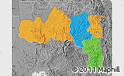 Political Map of Tigray, desaturated