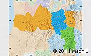 Political Map of Tigray, lighten
