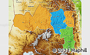 Political Map of Tigray, physical outside