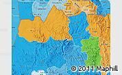 Political Map of Tigray, political shades outside