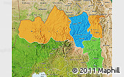 Political Map of Tigray, satellite outside