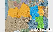 Political Map of Tigray, semi-desaturated
