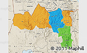 Political Map of Tigray, shaded relief outside