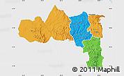 Political Map of Tigray, single color outside