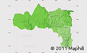 Political Shades Map of Tigray, cropped outside