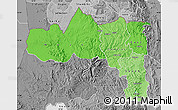 Political Shades Map of Tigray, desaturated