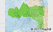 Political Shades Map of Tigray, lighten