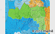 Political Shades Map of Tigray