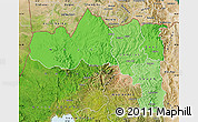 Political Shades Map of Tigray, satellite outside