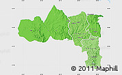 Political Shades Map of Tigray, single color outside