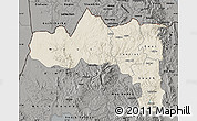 Shaded Relief Map of Tigray, darken, semi-desaturated