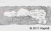 Gray Panoramic Map of Tigray