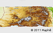 Physical Panoramic Map of Tigray