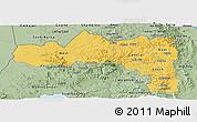 Savanna Style Panoramic Map of Tigray