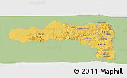 Savanna Style Panoramic Map of Tigray, single color outside