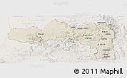 Shaded Relief Panoramic Map of Tigray, lighten