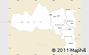 Classic Style Simple Map of Tigray, single color outside