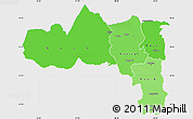 Political Shades Simple Map of Tigray, single color outside