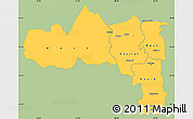 Savanna Style Simple Map of Tigray, single color outside