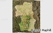 Satellite 3D Map of South, darken