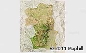 Satellite 3D Map of South, lighten