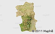 Satellite 3D Map of South, single color outside