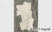 Shaded Relief Map of South, darken