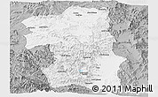 Gray Panoramic Map of South