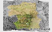 Satellite Panoramic Map of South, desaturated
