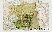Satellite Panoramic Map of South, lighten