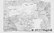 Silver Style Panoramic Map of South