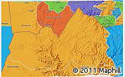 Political 3D Map of West