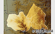Physical Map of West, darken