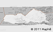 Gray Panoramic Map of West