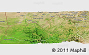Satellite Panoramic Map of West