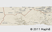 Shaded Relief Panoramic Map of West