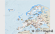 Classic Style 3D Map of Europe