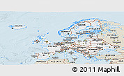 Classic Style Panoramic Map of Europe