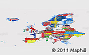 Flag Panoramic Map of Europe