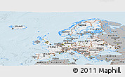 Gray Panoramic Map of Europe