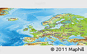 Physical Panoramic Map of Europe