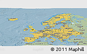 Savanna Style Panoramic Map of Europe