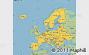 Savanna Style Simple Map of Europe