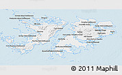 Classic Style 3D Map of Falkland Islands (Islas Malvinas)