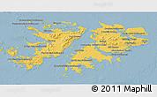 Savanna Style 3D Map of Falkland Islands (Islas Malvinas)